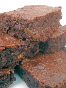 Dulce de leche chocolate brownies.