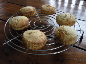 MArmalade scones cooling on a wire rack