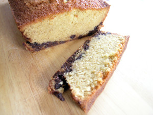 Buttermilk pound loaf with chocolate chips