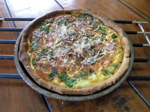 Spinach Goat's Cheese and Prosciutto Quiche