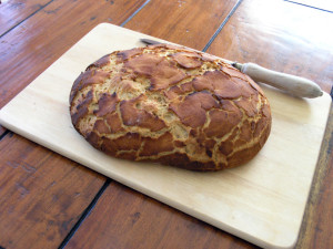 Baked tiger bread