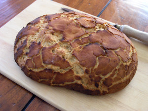 Tiger bread loaf
